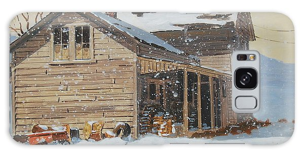 the Old Farm House Galaxy Case by Len Stomski