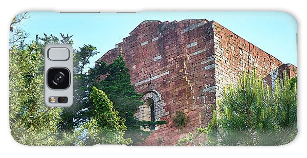 The Old Monastery Of Escornalbou Surrounded By Trees In Spain Galaxy Case