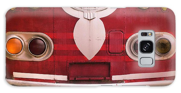 Galaxy Case featuring the photograph The Old Red Bus by Heidi Hermes