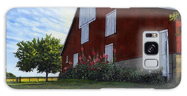 The Old Stucco Barn Galaxy Case