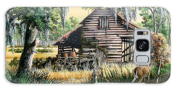 Old Florida Galaxy Case - Old Floridaturpentine Barn-a Florida Memory by Daniel Butler