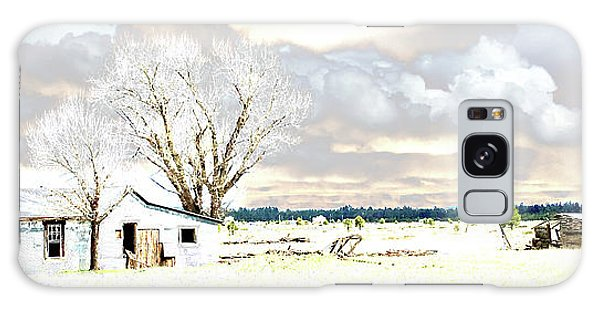 The Old Winter Homestead Galaxy Case