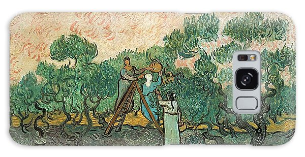 Impressionism Galaxy Case - The Olive Pickers by Vincent van Gogh