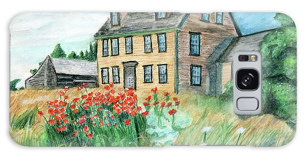 The Olson House With Poppies Galaxy Case