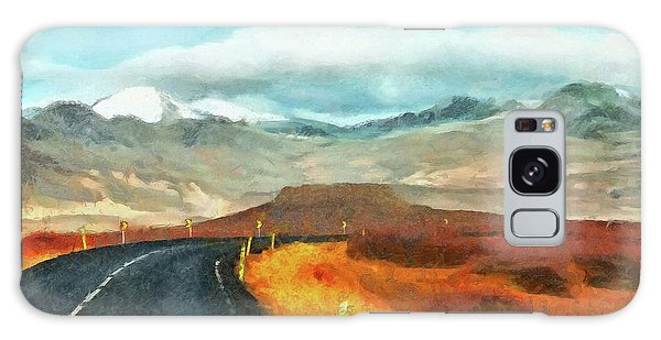 Galaxy Case featuring the digital art The Open Road On The Snaefellsnes Peninsula by Digital Photographic Arts