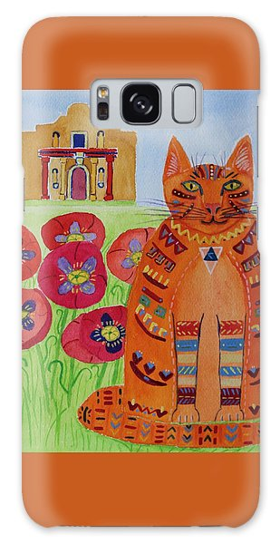 the Orange Alamo Cat Galaxy Case