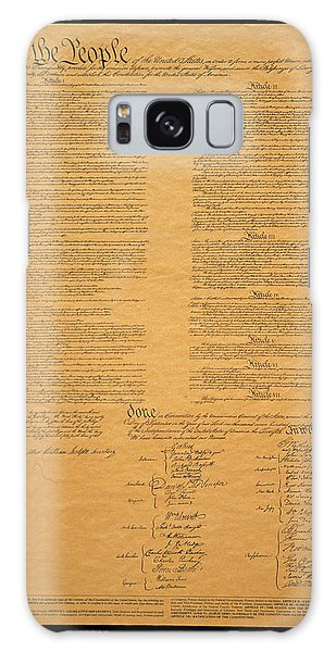 Horizontal Galaxy Case - The Original United States Constitution by Panoramic Images