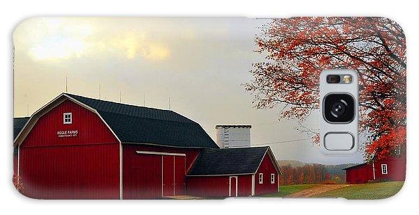 The Orignal Historic Eggle Farms Barn That Burned Down Galaxy Case