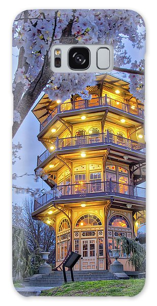 Galaxy Case featuring the photograph The Pagoda In Spring At Blue Hour by Mark Dodd