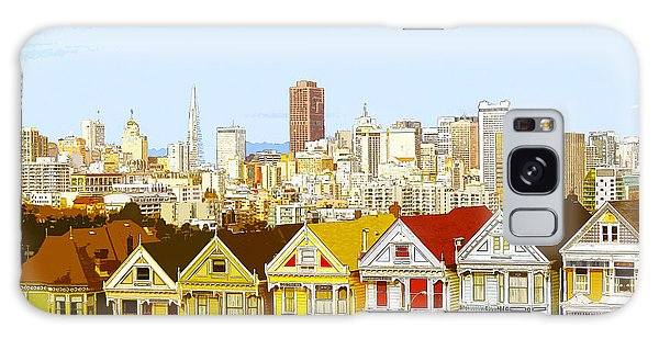 The Painted Ladies In San Francisco California Galaxy Case