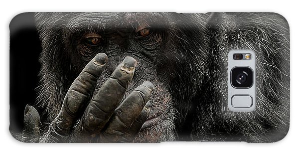 Chimpanzee Galaxy S8 Case - The Palm Reader by Paul Neville