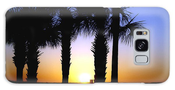 The Palms At Sunset Galaxy Case by Debra Forand