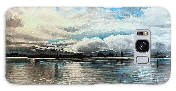 The Panoramic Painting Galaxy Case by Elizabeth Robinette Tyndall