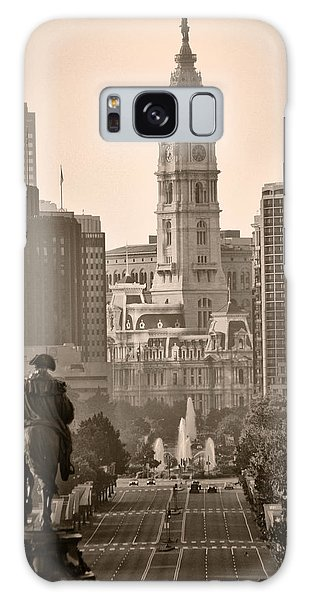 The Parkway In Sepia Galaxy Case