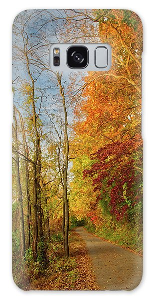 Galaxy Case featuring the photograph The Path In Fall by Mark Dodd