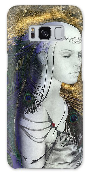 The Peacock Queen Galaxy Case by Ragen Mendenhall