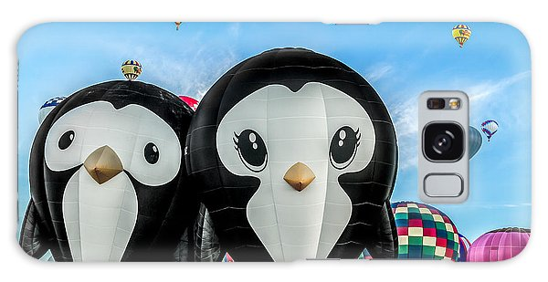 Puddles And Splash - The Penguin Hot Air Balloons Galaxy Case