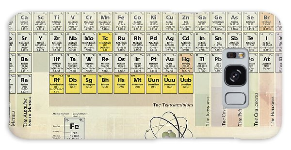 The Periodic Table Of The Elements Galaxy Case by Gina Dsgn
