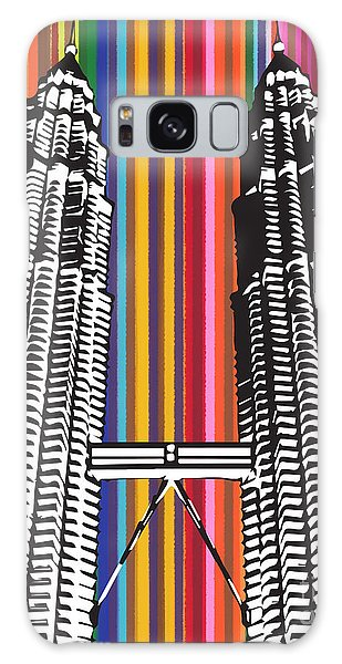 Galaxy Case featuring the painting The Petronas Towers  by Carla Bank