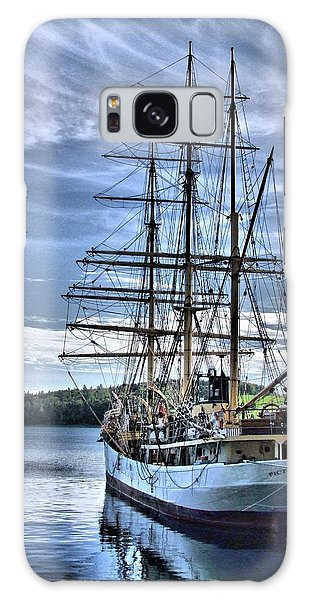 The Picton Castle Docked In Lunenburg Galaxy Case