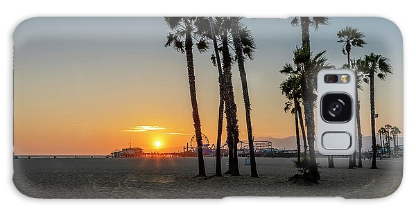 The Pier At Sunset Galaxy Case