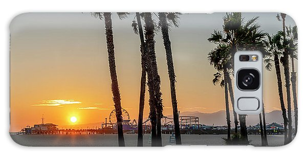 The Pier At Sunset - Square Galaxy Case
