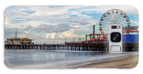 The Pier On A Cloudy Day Galaxy Case