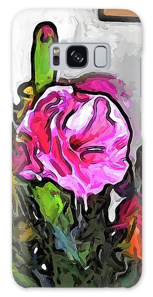 The Pink Flower With The Burgundy Buds Galaxy Case