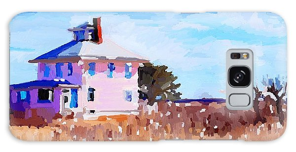 The Pink House, Newburyport, Ma. Galaxy Case