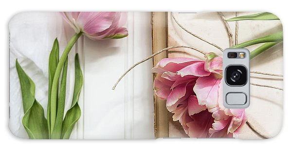 Galaxy Case featuring the photograph The Pink Tulips by Kim Hojnacki