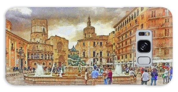 Galaxy Case featuring the digital art The Plaza De La Virgen by Digital Photographic Arts