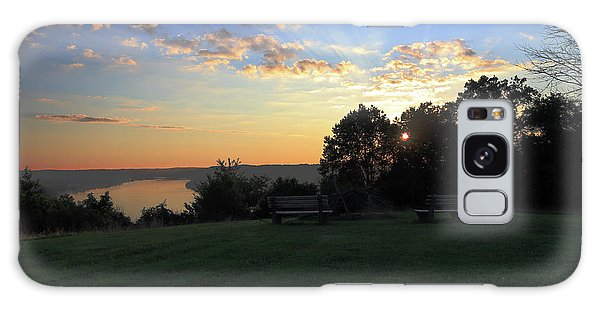 The Point At Sunrise Galaxy Case
