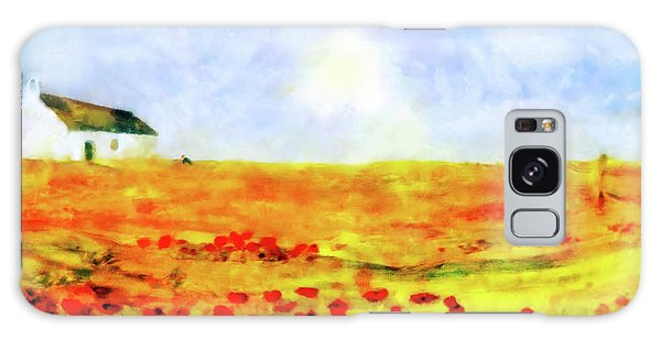 Galaxy Case featuring the painting The Poppy Picker by Valerie Anne Kelly