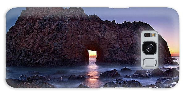 Rock Galaxy Case - The Portal - Sunset On Arch Rock In Pfeiffer Beach Big Sur In California. by Jamie Pham