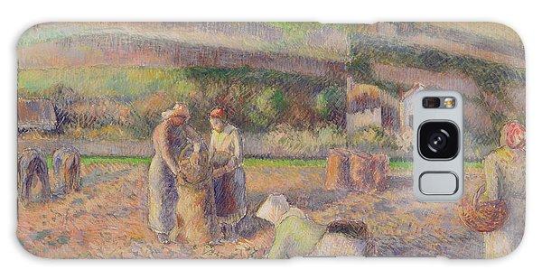 The Potato Harvest Galaxy Case by Camille Pissarro