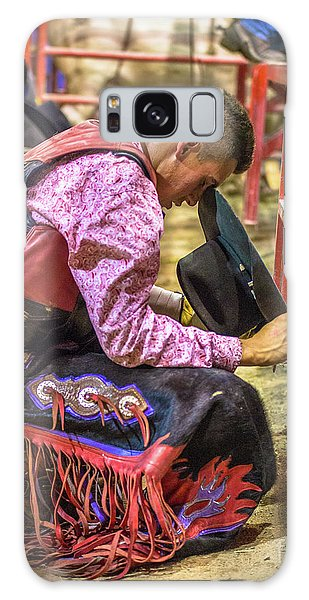 Prca Galaxy Case - The Cowboy Prayer Before The Rodeo by Rene Triay Photography