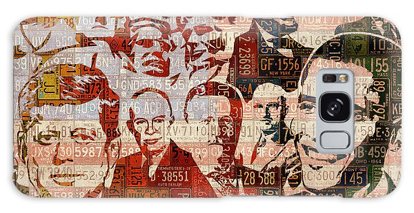 The Presidents Past Recycled Vintage License Plate Art Collage Galaxy Case