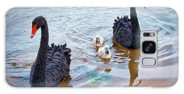 The Protectors, Black Swans And Cygnets Galaxy Case