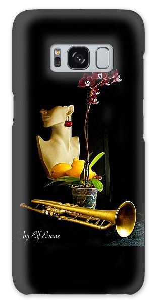 Galaxy Case featuring the photograph The Purple Orchid by Elf Evans
