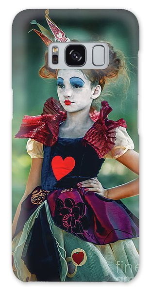 Galaxy Case featuring the photograph The Queen Of Hearts Alice In Wonderland by Dimitar Hristov
