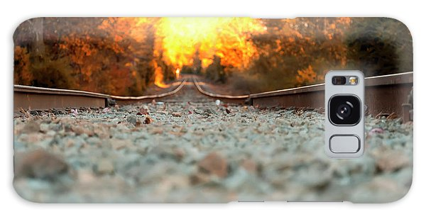 The Railroad Tracks From A New Perspective Galaxy Case by Chris Flees