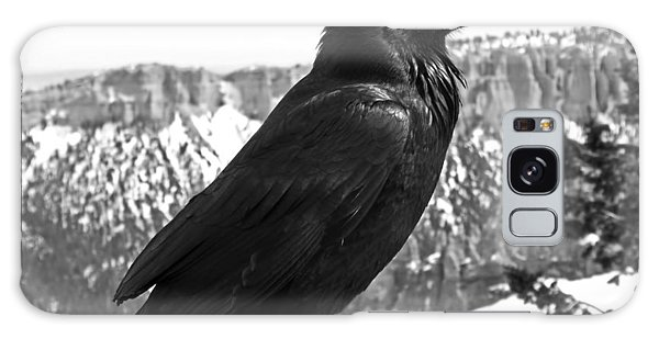 The Raven - Black And White Galaxy Case