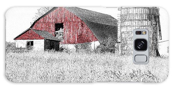 The Red Barn - Sketch 0004 Galaxy Case
