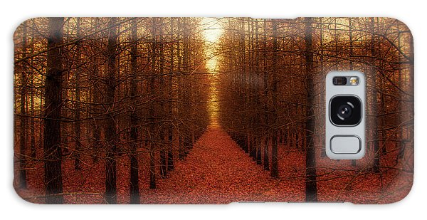 Outdoors Galaxy Case - The Red Forest by Amy Tyler