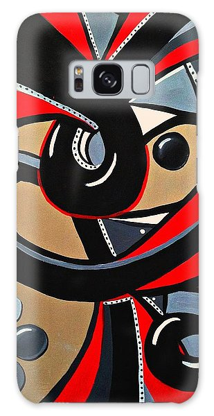 Red And Black Abstract Art Painting Galaxy Case