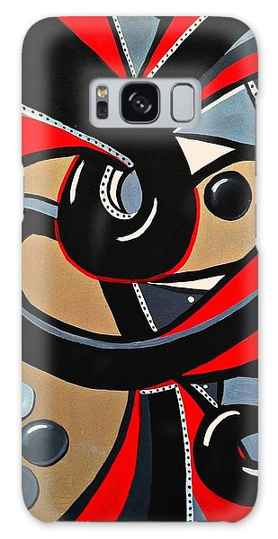 Red Black Abstract Art Painting, Swirl Acrylic Painting Galaxy Case
