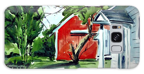 The Red Oxide Barn Matted Galaxy Case by Charlie Spear