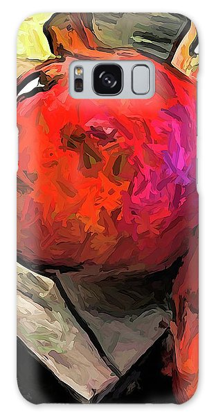 The Red Pomegranates On The Marble Chopping Board Galaxy Case