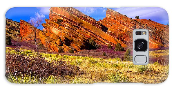 The Red Rock Park Vi Galaxy Case by David Patterson