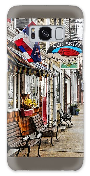 The Red Skiff In Rockport Ma Galaxy Case